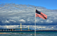Old Glory And The Bridge